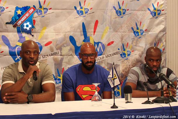 Mulumbu et Nicolas Anelka à Kinshasa