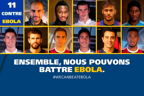 Des stars du football contre Ebola