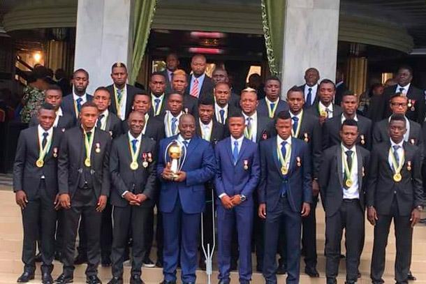 Les Léopards honorés et  gratifiés par le Chef de l'Etat
