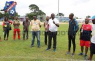 Francophonie : visite du ministre des sports à l'entraînement des U20