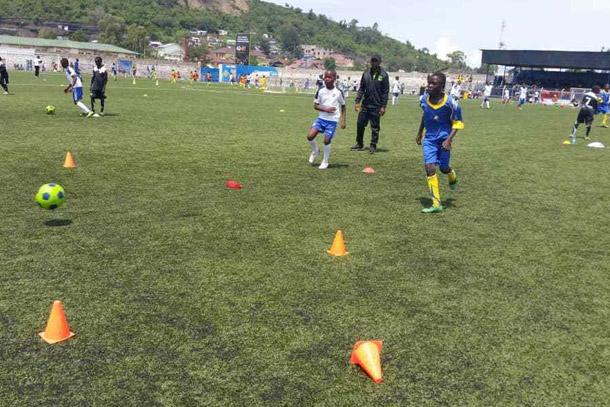 Ibenge au festival des jeunes footballeurs de Goma